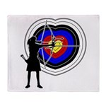 Archery5 Throw Blanket