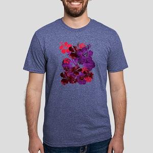 Hibiscus Mens Tri-blend T-Shirt
