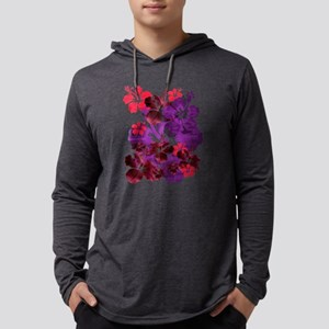 Hibiscus Mens Hooded Shirt