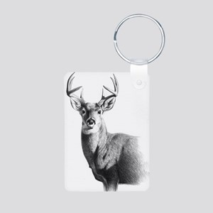 Whitetail Aluminum Photo Keychain