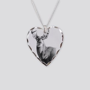 Whitetail Necklace Heart Charm