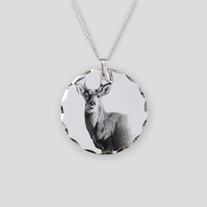 Whitetail Necklace Circle Charm