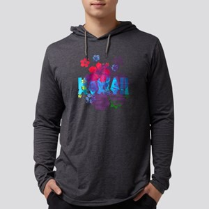 Hawaii Hibiscus Mens Hooded Shirt