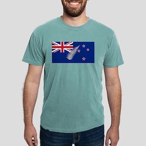 New Zealand Silver Fern Flag Mens Comfort Colors S