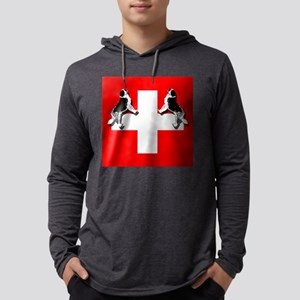 Swiss St. Bernards Mens Hooded Shirt