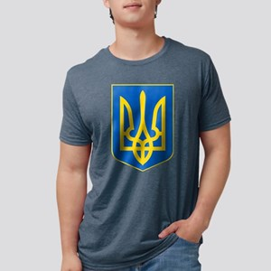 Ukraine Coat of Arms Mens Tri-blend T-Shirt