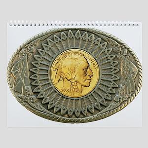 Indian gold oval 2 Wall Calendar