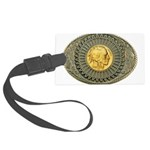 Indian gold oval 2 Large Luggage Tag