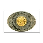 Indian gold oval 2 Car Magnet 20 x 12