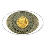 Indian gold oval 2 Sticker (Oval)