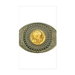 Indian gold oval 2 Sticker (Rectangle 50 pk)