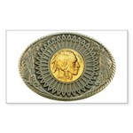 Indian gold oval 2 Sticker (Rectangle)