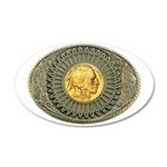 Indian gold oval 2 20x12 Oval Wall Decal