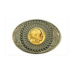 Indian gold oval 2 35x21 Wall Decal