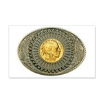 Indian gold oval 2 20x12 Wall Decal