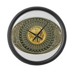 Indian gold oval 2 Large Wall Clock