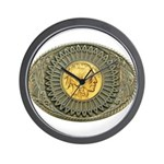 Indian gold oval 2 Wall Clock