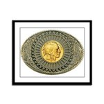 Indian gold oval 2 Framed Panel Print