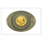 Indian gold oval 2 Large Poster