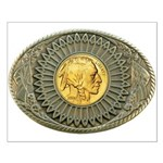 Indian gold oval 2 Small Poster
