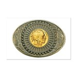 Indian gold oval 2 Mini Poster Print
