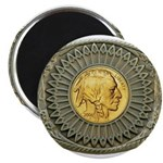 Indian gold oval 2 Magnet