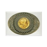 Indian gold oval 2 Rectangle Magnet