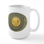 Indian gold oval 2 Large Mug