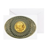 Indian gold oval 2 Greeting Cards (Pk of 10)