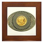 Indian gold oval 2 Framed Tile