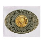 Indian gold oval 2 Throw Blanket