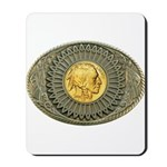 Indian gold oval 2 Mousepad