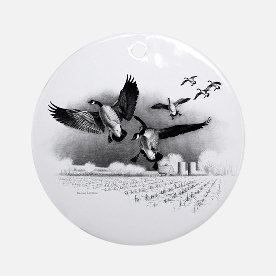 Canadian Geese Ornament (Round)
