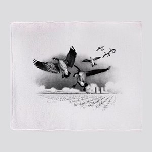 Canadian Geese Throw Blanket