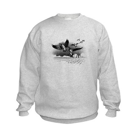 Canadian Geese Kids Sweatshirt
