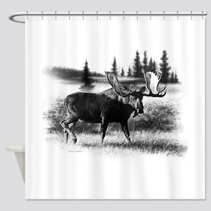 Northern Disposition Shower Curtain