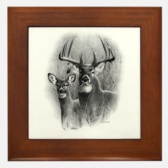 Big Buck Framed Tile