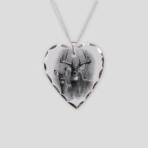 Big Buck Necklace Heart Charm