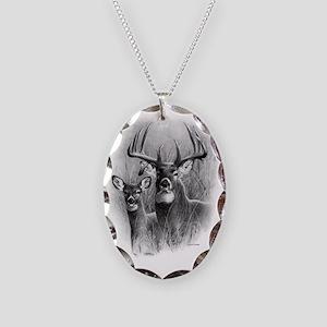 Big Buck Necklace Oval Charm