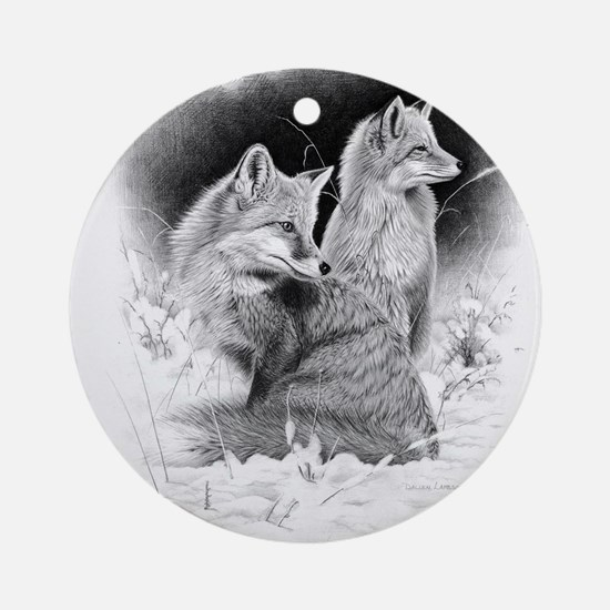 Foxes.tif.png Ornament (Round)