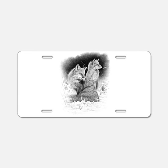 Foxes.tif.png Aluminum License Plate