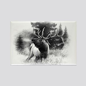 Elk Bugle Rectangle Magnet