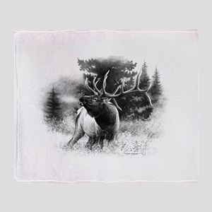 Elk Bugle Throw Blanket