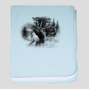 Elk Bugle baby blanket