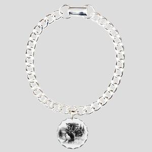 Elk Bugle Charm Bracelet, One Charm