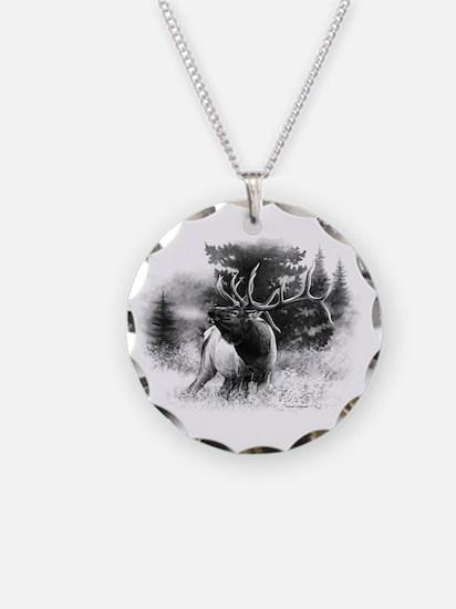 Elk Bugle.tif.png Necklace Circle Charm