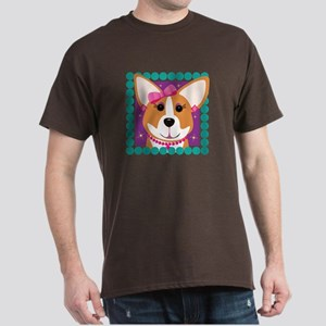 Corgi Diva Dog Art Dark T-Shirt
