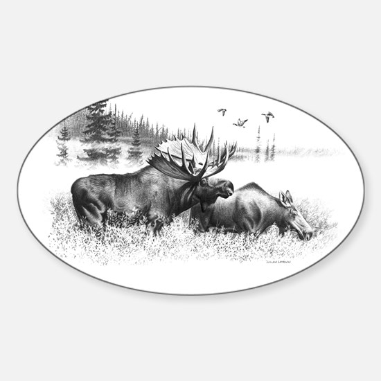 Moose Sticker (Oval)