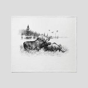 Moose Throw Blanket