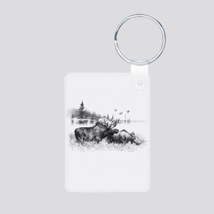 Moose Aluminum Photo Keychain